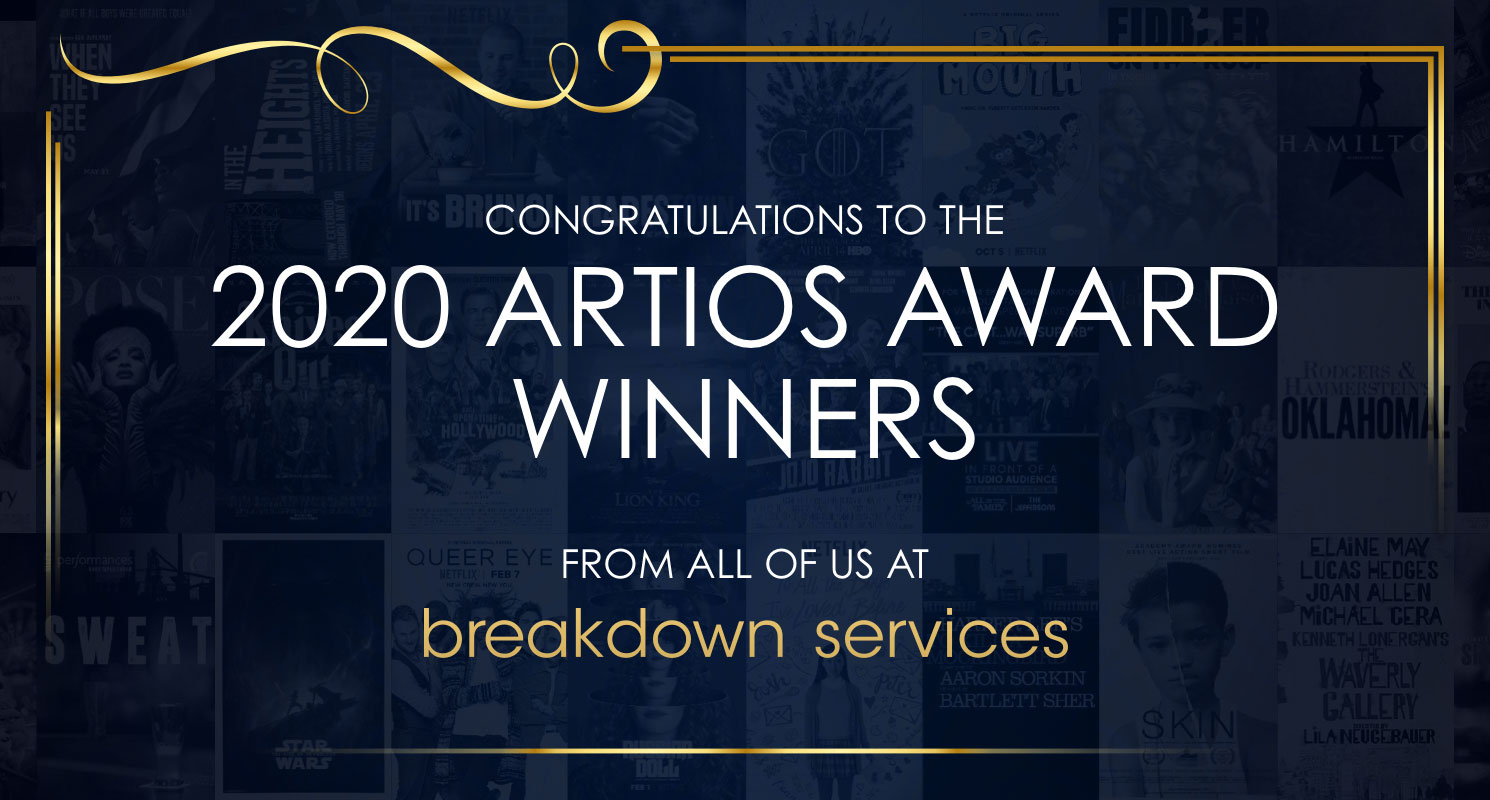 Congratulations to the 2020 Artios winners.