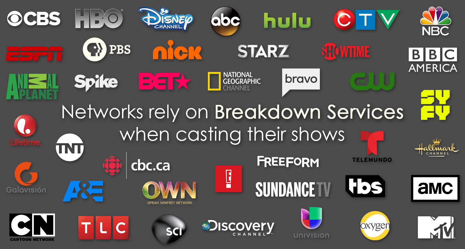 Networks rely on Breakdown Services when casting their shows.